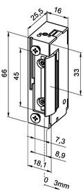 Elektro-Türöffner eff-eff 118 F FaFix mit Radiusfalle