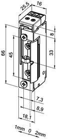 Elektro-Türöffner eff-eff 118 FRR FaFix mit Radiusfalle