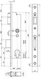 Rohrrahmen-Panik-Sicherheits-Einsteckschloss MSL DELTA 19446 PBa
