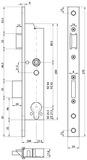 Rohrrahmen-Panik-Sicherheits-Einsteckschloss MSL DELTA 19446 PBe