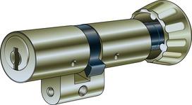 Drehknopfzylinder Kaba 8 Typ 1519 Schliessung 5000