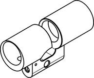 Gehäuse Doppelzylinder RZ Kaba Modular Typ 2215 A-1