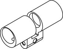 Gehäuse Doppelzylinder RZ Kaba Modular Typ 2215-1