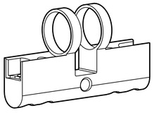 Gehäuse Doppelzylinder PZ/Euro Kaba Modular Typ 2115-1