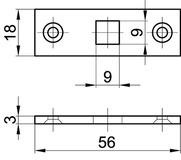 Endschliessbleche für Einlass-Hebelkantenriegel MSL 1808
