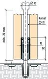 Bohrung PLANET 5x13 mm, symmetrisch, inkl. Kunststoffführung, zu KR/TR Art.-Nr. 900601