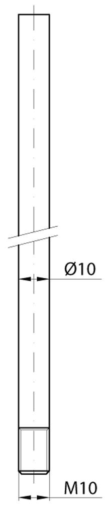 Rundstangen MSL 1825 für Einlass-Hebelkantenriegel