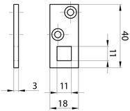 Stangenführungen für Einlass-Hebelkantenriegel MSL 1807
