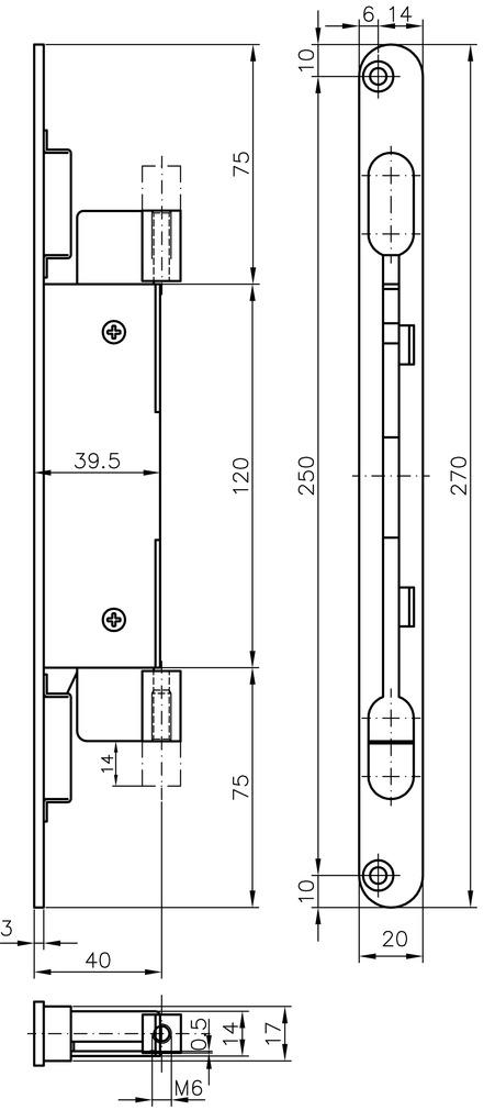 Einlass-Hebelkantenriegel MSL 1807