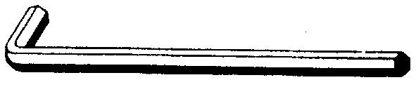 Innensechskantschlüssel Gr. 5, einzeln