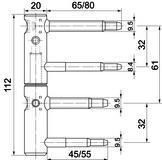 SASSBA 11 R für Rahmen- und Futtertüren mit Aushängesicherung