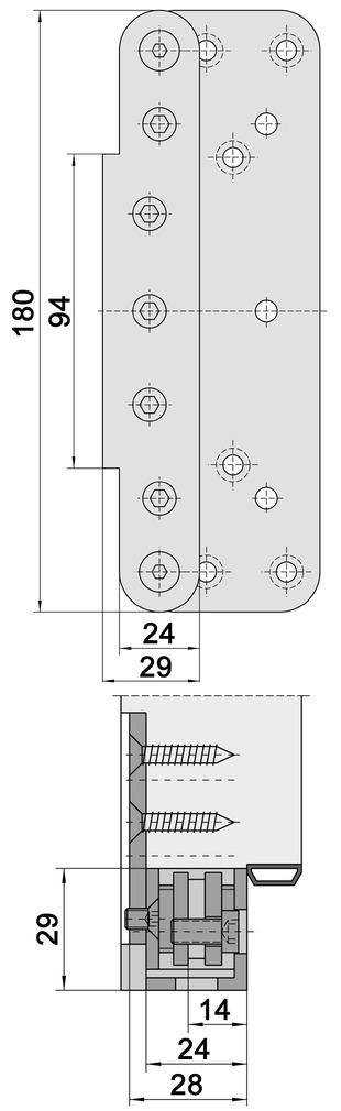 Abdeckwinkel SIMONSWERK VARIANT VX 75