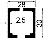 Laufschienen für HAWA-Junior 40 Z/B/GL/GP/GS