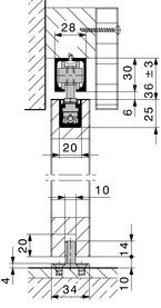 Schiebetürbeschläge HAWA-Junior 40/B