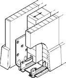Bodenführungen HAWA-Confort 160 für Schiebetüren, doppelt