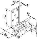 Bodenführungen HAWA-Confort 120 für Schiebetüren, einfach