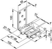 Bodenführungen HAWA-Confort 120 für Schiebetüren, doppelt