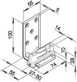 Bodenführungen HAWA-Confort 160 für Schiebetüren, einfach
