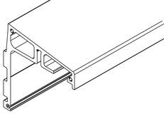 Winkeltragprofil für zwei Schiebeebenen