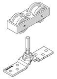 Schiebeladen-Teilgarnitur HAWA-Frontslide 60/matic