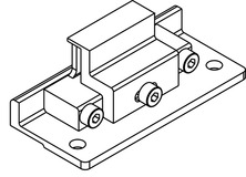 Ergänzungsteile, HAWA-Frontslide 60/matic-Symmetric