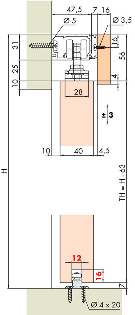 Schiebetürbeschläge EKU-PORTA 60/100 H