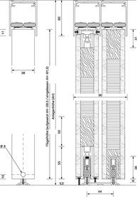 Schiebetürbeschläge OK-LINE Slideflex RL 100