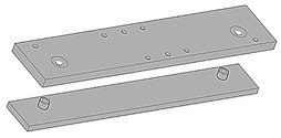 Montageplatten zu Türschliesser GEZE TS 3000 und TS 2000 NV