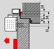 Montageplatte zu Gleitschienen G-N