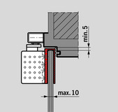 Glastürschuh zu DORMA TS 92 Contur Design