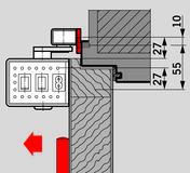 Montageplatte für Gleitschiene DORMA PORTEO