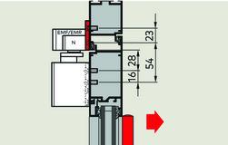 Montageplatte 40 mm zu Gleitschienen G-N XEA