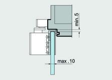 Glastürschuh zu dormakaba TS 92 XEA