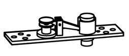 Zapfenbänder für Stahl-, Aluminium- und Holz-Pendeltüren