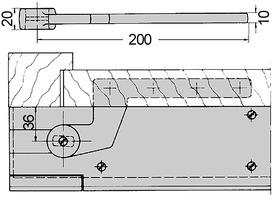 t rhebel dorma 7411 56 f r stumpf einschlagende t ren. Black Bedroom Furniture Sets. Home Design Ideas
