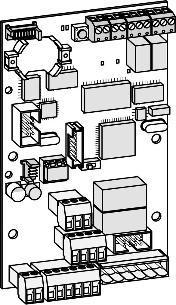 Steuer- und Anschlussplatine DORMA TL-S TMS 2