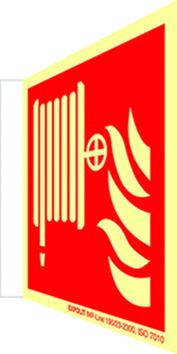 Langnachleuchtende Brandschutzschilder
