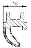 Flügel-Zusatzdichtung HZD 16 / HZD 20