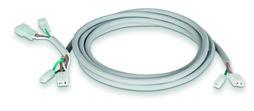 Anschlusskabel WindowMaster WLL 832, für 2 WMX Silikon, Länge 2m, 3x0.75mm²+0.1m 3x0.7mm², für RWA