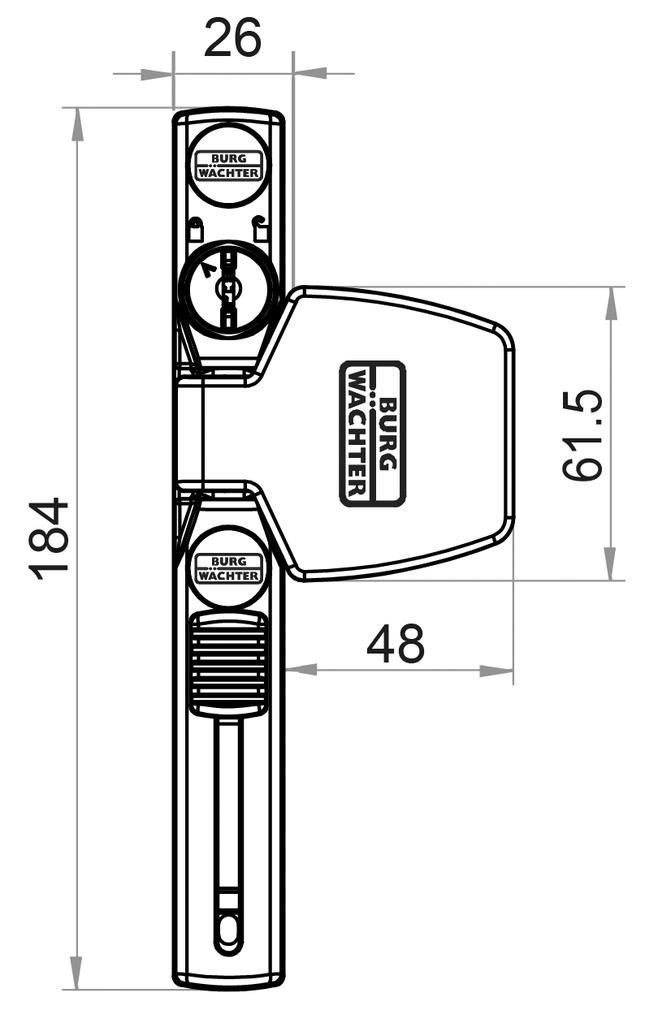 Fenstersicherung BURG-WÄCHTER WinSafe WS 33
