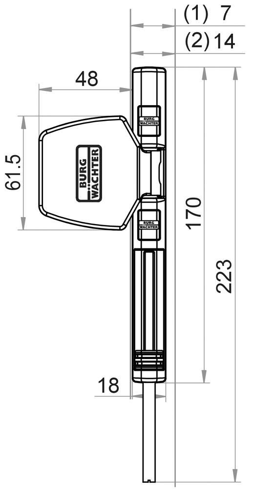 Fenstersicherung BURG-WÄCHTER WinSafe WS 44