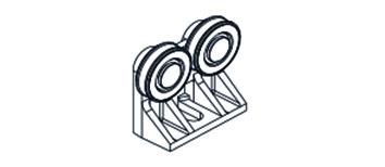 HAWA 10370 Laufwerk, 2-rollig kunststoffbesch. Rollen