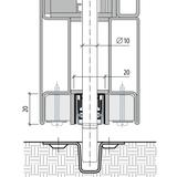 Bohrung PLANET d 10,8 mm, zu Treibriegelstangen Ø10 Art.-Nr. 900280