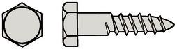 Sechskant-Holzschrauben A2 DIN 571