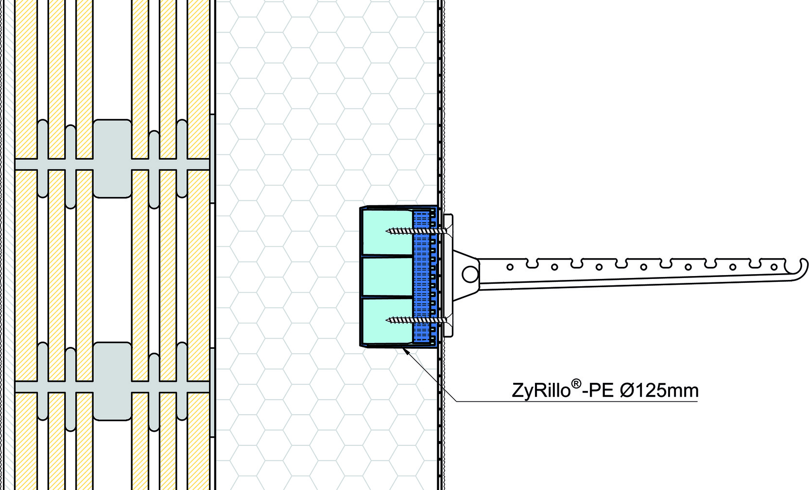 Montagezylinder ZyRillo-PE