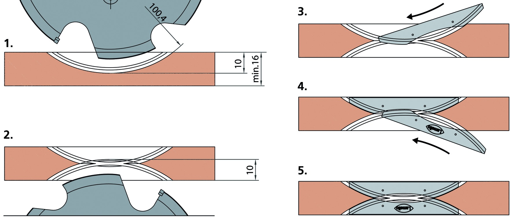 Mittelwandverbinder LAMELLO CLAMEX P Medius 14/10