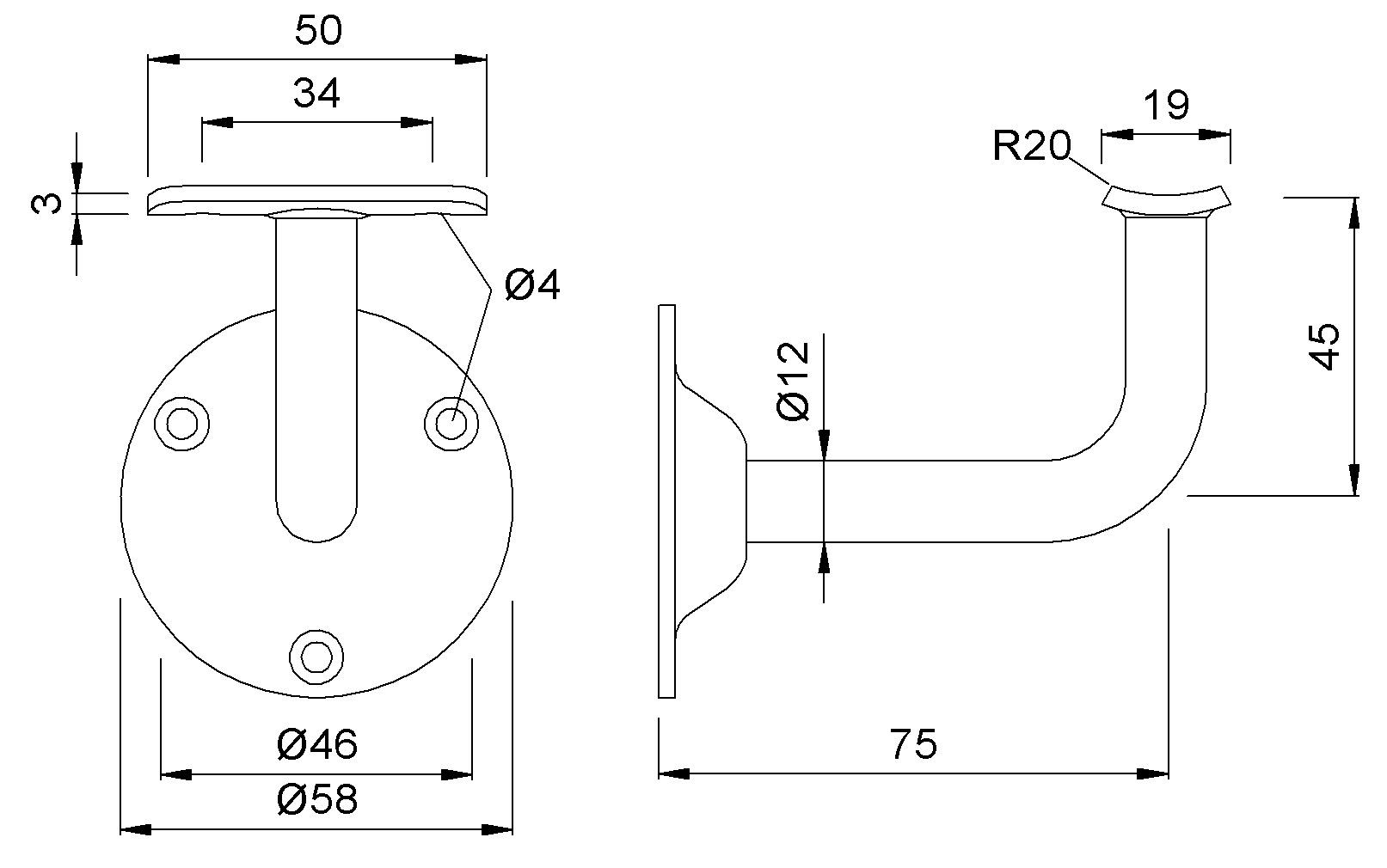 Handlaufstützen KWS 4524 / 4525