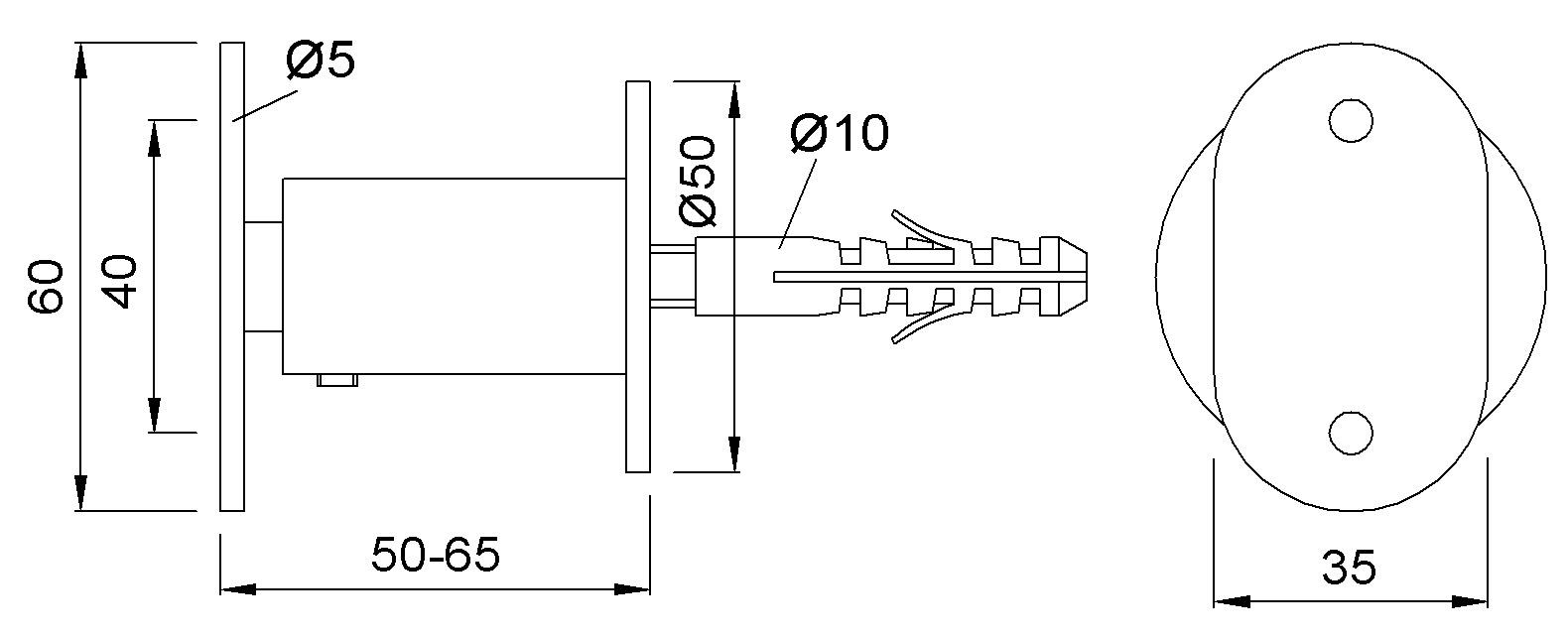Handlaufstützen KWS 4550
