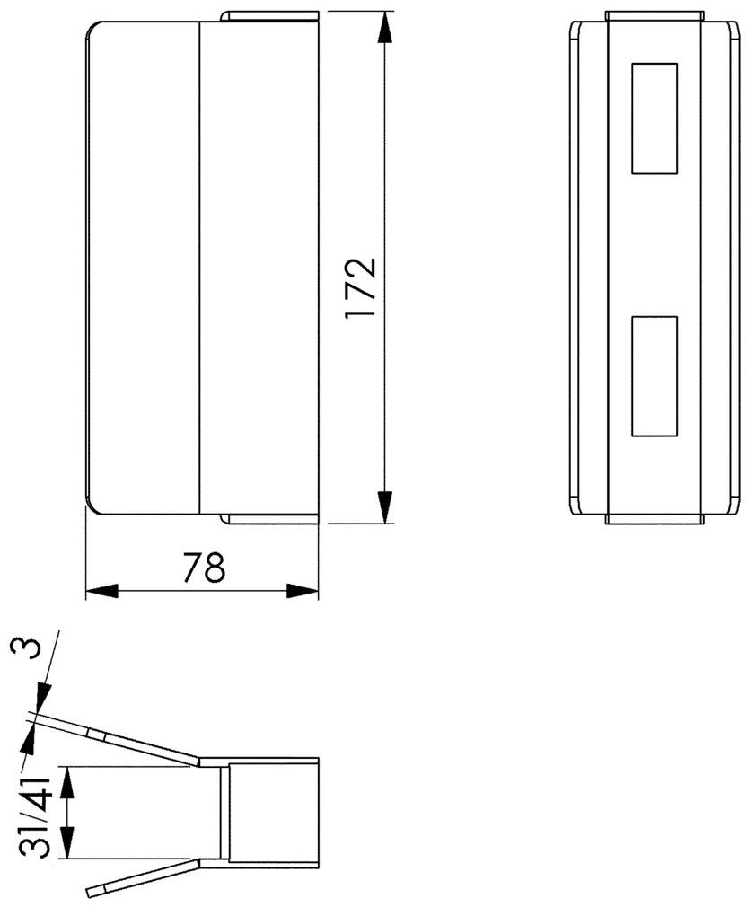 Schliesskasten AMF 147S zu Schiebetorschlösser