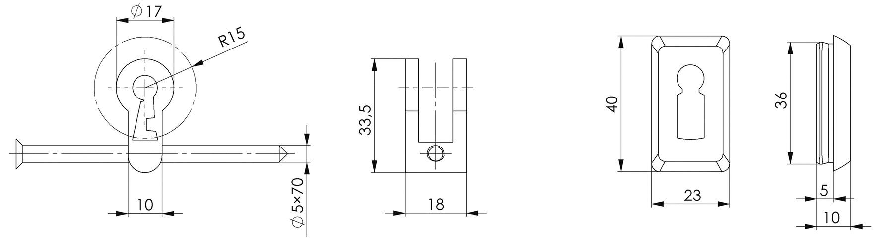 Buntbart-Nachrüstsätze AMF 51